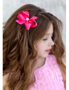 """Зажим для волос ярко-розового цвета """"Виктория"""" (2шт)"""