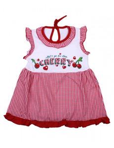 Платье без рукавов для малышей вишенки