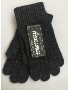 Перчатки зимние темно-серого цвета Дэни