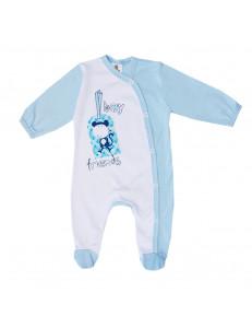 "Комбинезон бело-голубой для малышей ""обезьянка"""