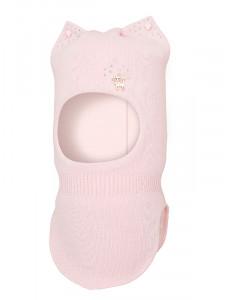 Шапка-шлем для девочек светло-розового цвета с ушками БАРБАРИСКА