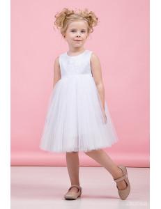 """Платье нарядное для девочек белого цвета """"Нежность"""""""